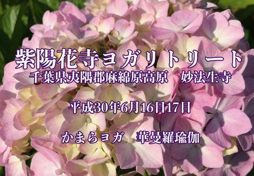 紫陽花寺ヨガリトリート 日程変更